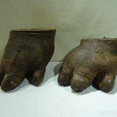 Antigüedades: 2 PATAS DE HIPOPÓTAMO CON CITES. Lote 271930933