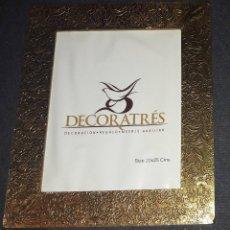 Antigüedades: MARCO COLOR DORADO DECORATRES 20 X 25. Lote 271944268