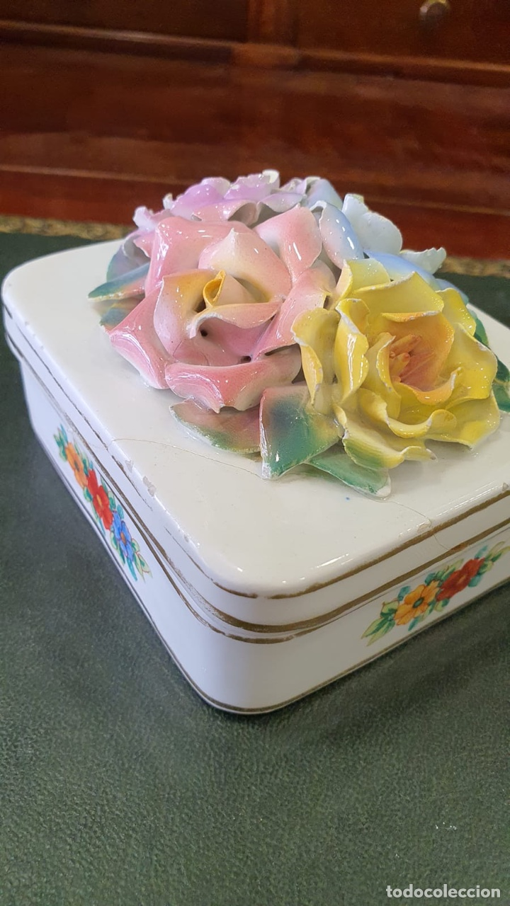 Antigüedades: Bonita caja antigua de porcelana - Foto 3 - 271956583