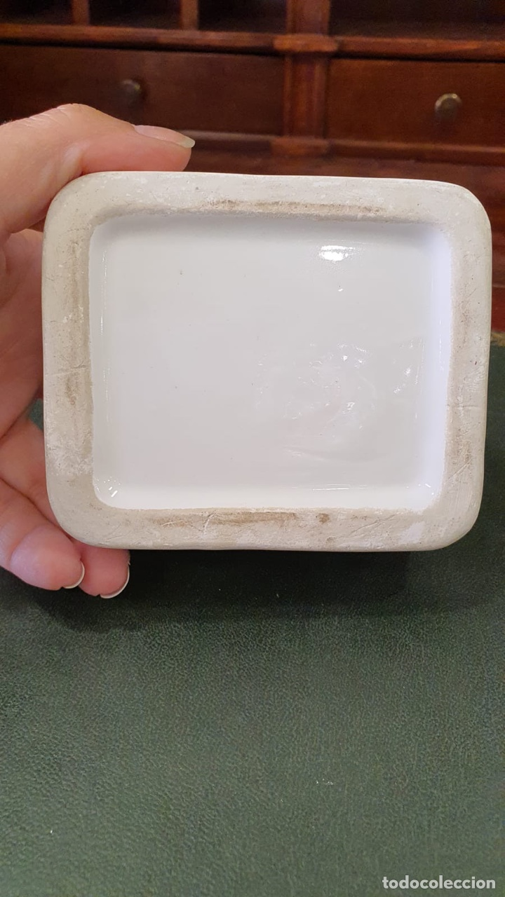 Antigüedades: Bonita caja antigua de porcelana - Foto 5 - 271956583