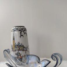 Antigüedades: CENTRO DE CRISTAL MURANO GLASS.. Lote 272131608