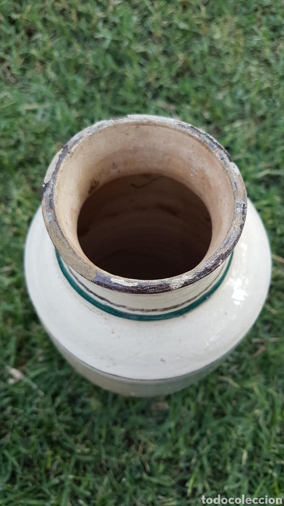 Antigüedades: Magnifico jarron ceramica virgen Inmaculada J,Millan Ubeda - Foto 4 - 272133678