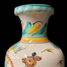 Antigüedades: ANTIGUA JARRA, JARRÓN DE CERÁMICA DE PUENTE DEL ARZOBISPO. S. XVIII. RAREZA. 26X18X18. Lote 272150758