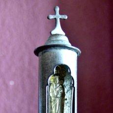 Antiquités: ANTIGUA CAPILLA DE PASTOR, SOLDADO O MARINO DE BRONCE DE BOLSILLO. Lote 272264398