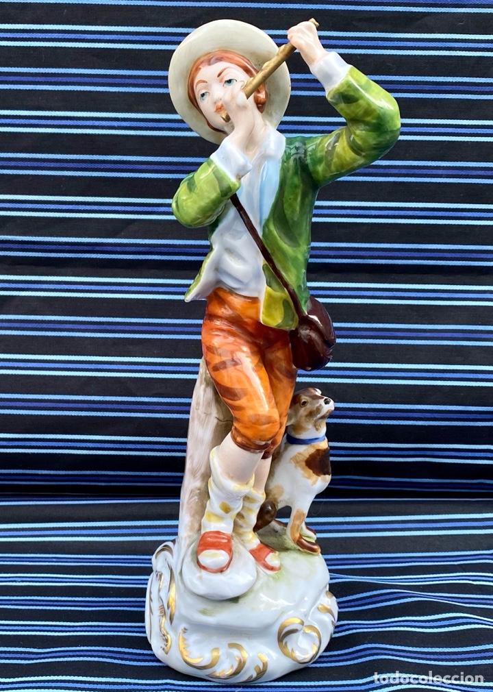 Antigüedades: MEISSEN. Figura Flautista porcelana Alemana Meissen - Foto 2 - 272270523