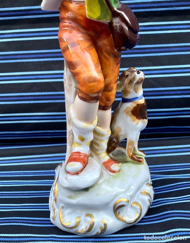 Antigüedades: MEISSEN. Figura Flautista porcelana Alemana Meissen - Foto 3 - 272270523