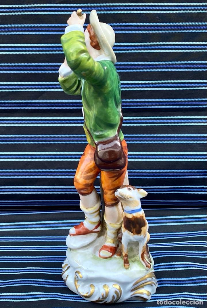 Antigüedades: MEISSEN. Figura Flautista porcelana Alemana Meissen - Foto 4 - 272270523