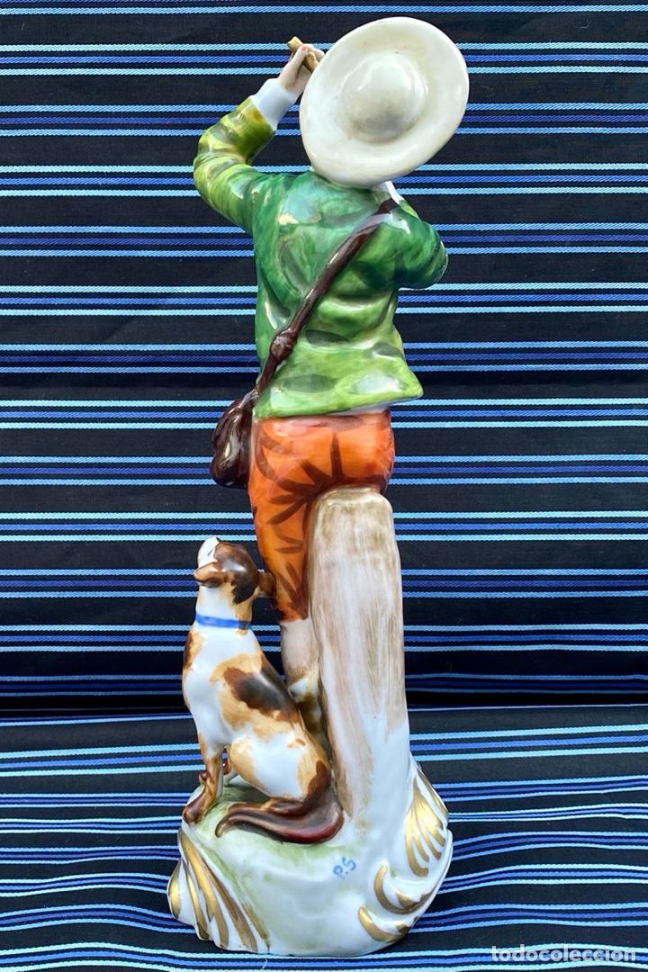 Antigüedades: MEISSEN. Figura Flautista porcelana Alemana Meissen - Foto 5 - 272270523