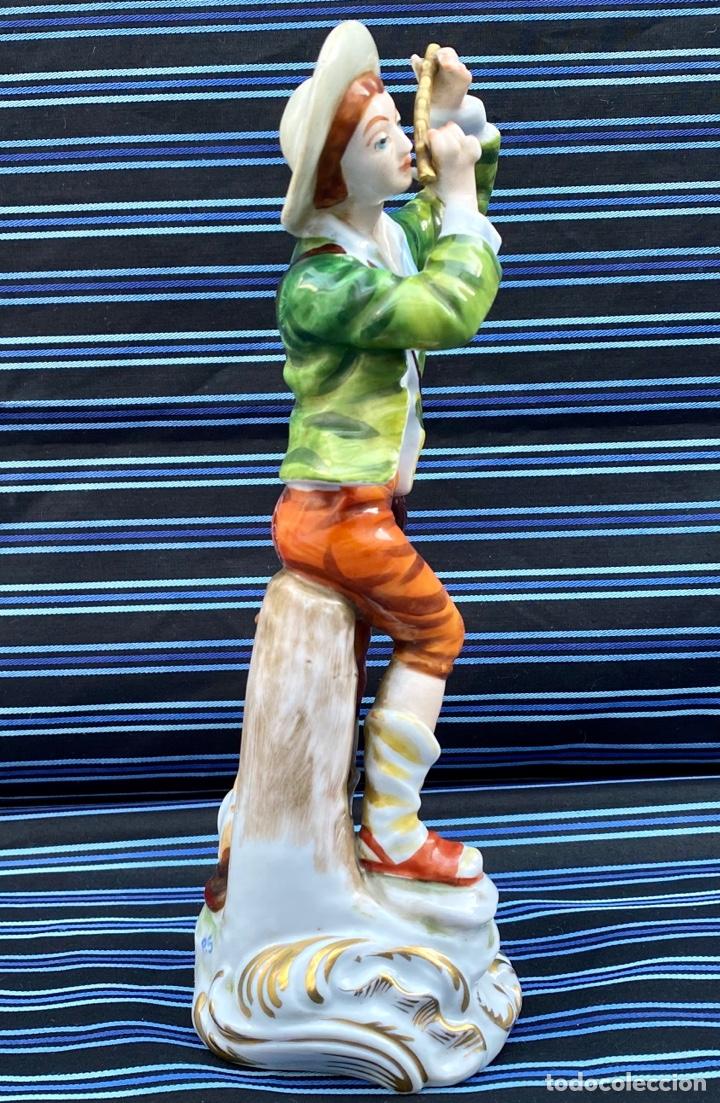 Antigüedades: MEISSEN. Figura Flautista porcelana Alemana Meissen - Foto 7 - 272270523