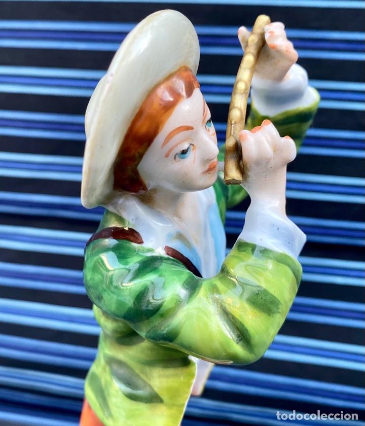 Antigüedades: MEISSEN. Figura Flautista porcelana Alemana Meissen - Foto 8 - 272270523