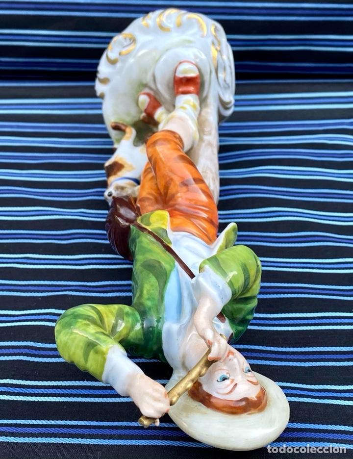 Antigüedades: MEISSEN. Figura Flautista porcelana Alemana Meissen - Foto 9 - 272270523