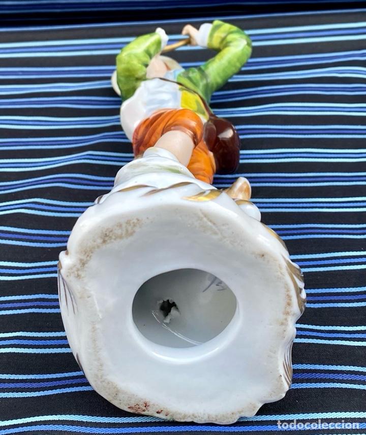 Antigüedades: MEISSEN. Figura Flautista porcelana Alemana Meissen - Foto 10 - 272270523