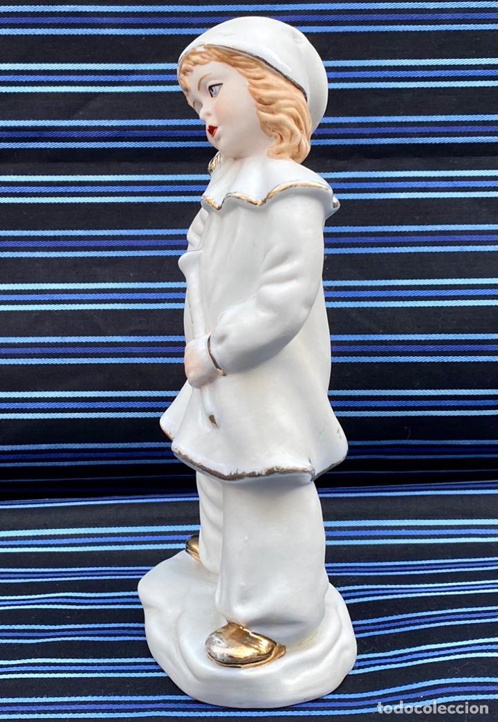 Antigüedades: MEISSEN. Figura Niña Flautista porcelana Biscuit Alemana Meissen - Foto 3 - 272271833