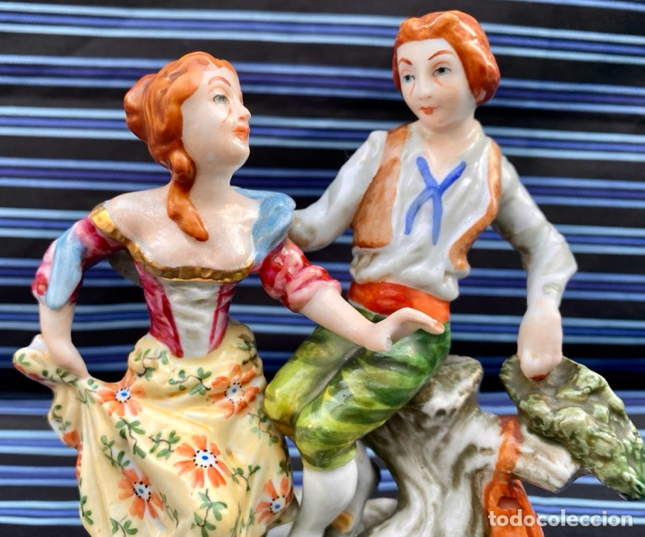 Antigüedades: MEISSEN. Figura Pareja porcelana Alemana Meissen - Foto 2 - 272274538