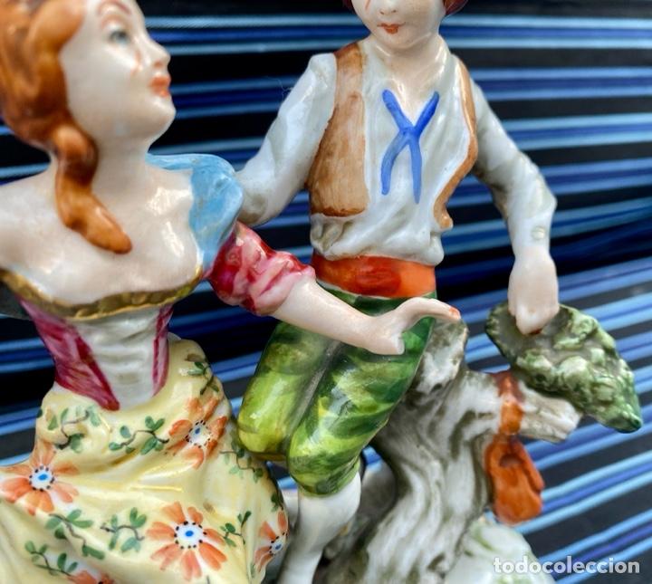 Antigüedades: MEISSEN. Figura Pareja porcelana Alemana Meissen - Foto 3 - 272274538