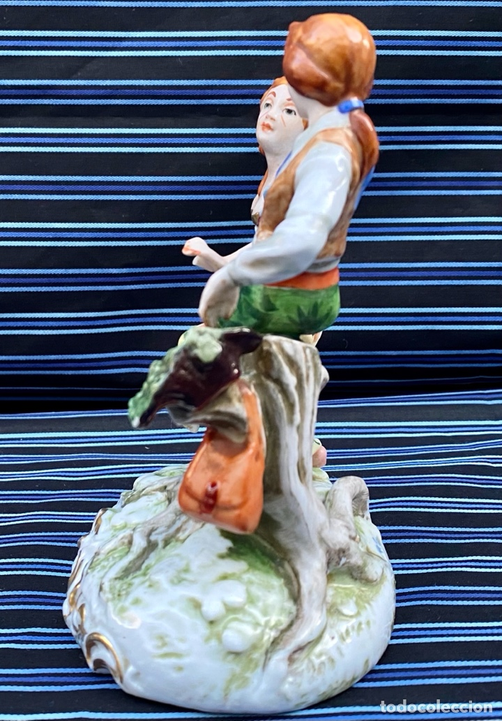 Antigüedades: MEISSEN. Figura Pareja porcelana Alemana Meissen - Foto 5 - 272274538