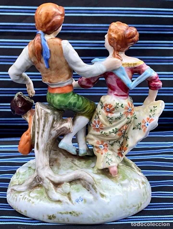 Antigüedades: MEISSEN. Figura Pareja porcelana Alemana Meissen - Foto 6 - 272274538