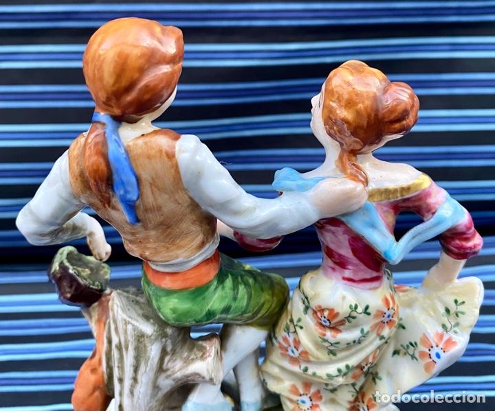 Antigüedades: MEISSEN. Figura Pareja porcelana Alemana Meissen - Foto 7 - 272274538