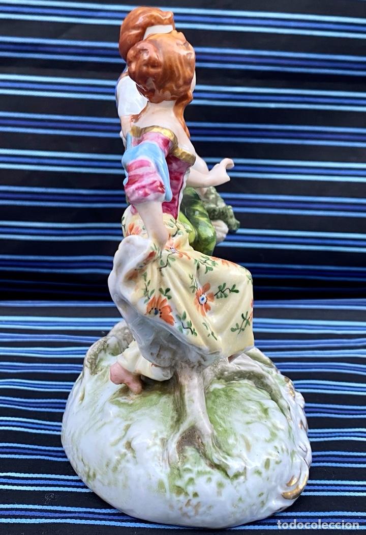 Antigüedades: MEISSEN. Figura Pareja porcelana Alemana Meissen - Foto 8 - 272274538