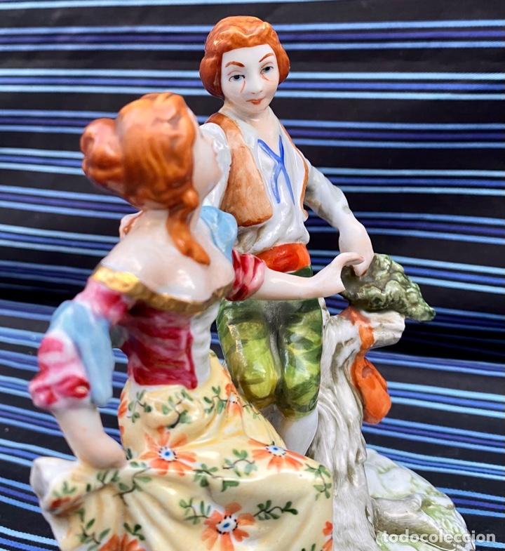 Antigüedades: MEISSEN. Figura Pareja porcelana Alemana Meissen - Foto 9 - 272274538