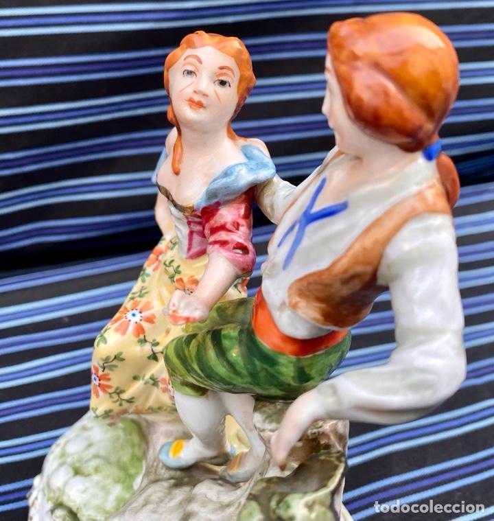 Antigüedades: MEISSEN. Figura Pareja porcelana Alemana Meissen - Foto 10 - 272274538