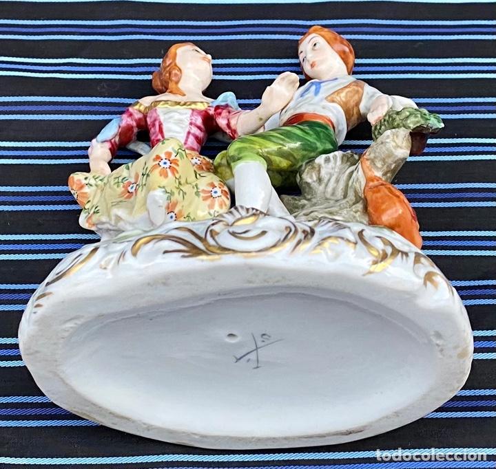 Antigüedades: MEISSEN. Figura Pareja porcelana Alemana Meissen - Foto 12 - 272274538