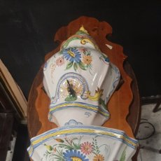 Antigüedades: AGUAMANIL CERÁMICA MURCIANA PINTADA A MANIO LARIO. Lote 272336588