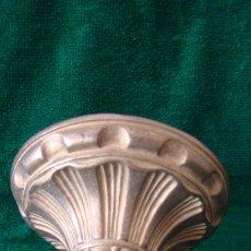 Antigüedades: FLORON DE BRONCE DORADO PARA COLGAR LAMPARA. Lote 272362093