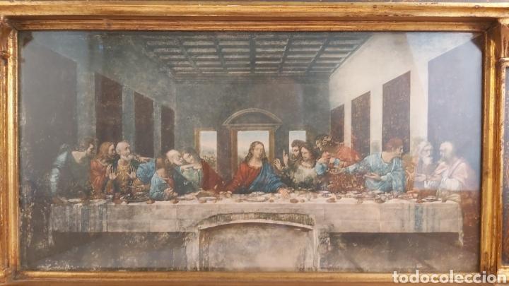 Antigüedades: MARCO TABERNÁCULO S.XIX DE MADERA Y ESTUCO. SANTA CENA - Foto 5 - 272436058