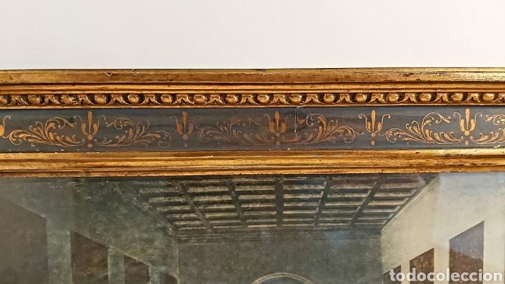 Antigüedades: MARCO TABERNÁCULO S.XIX DE MADERA Y ESTUCO. SANTA CENA - Foto 6 - 272436058