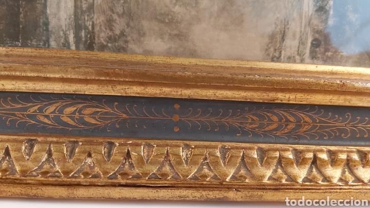 Antigüedades: MARCO TABERNÁCULO S.XIX DE MADERA Y ESTUCO. SANTA CENA - Foto 9 - 272436058