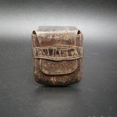Antigüedades: ROSARIERA ANTIGUA DE PIEL. Lote 272440703