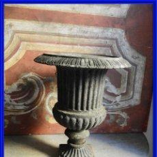 Antigüedades: PRECIOSA COPA DE HIERRO MEDICI ALTURA 34 CM. Lote 272444353