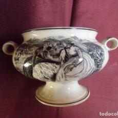 Antiquités: ANTIGUA SOPERA DE CERAMICA DE CARTAGENA-LA AMISTAD-25 CM DE ANCHO Y 14 CM ALTO.. Lote 272465763
