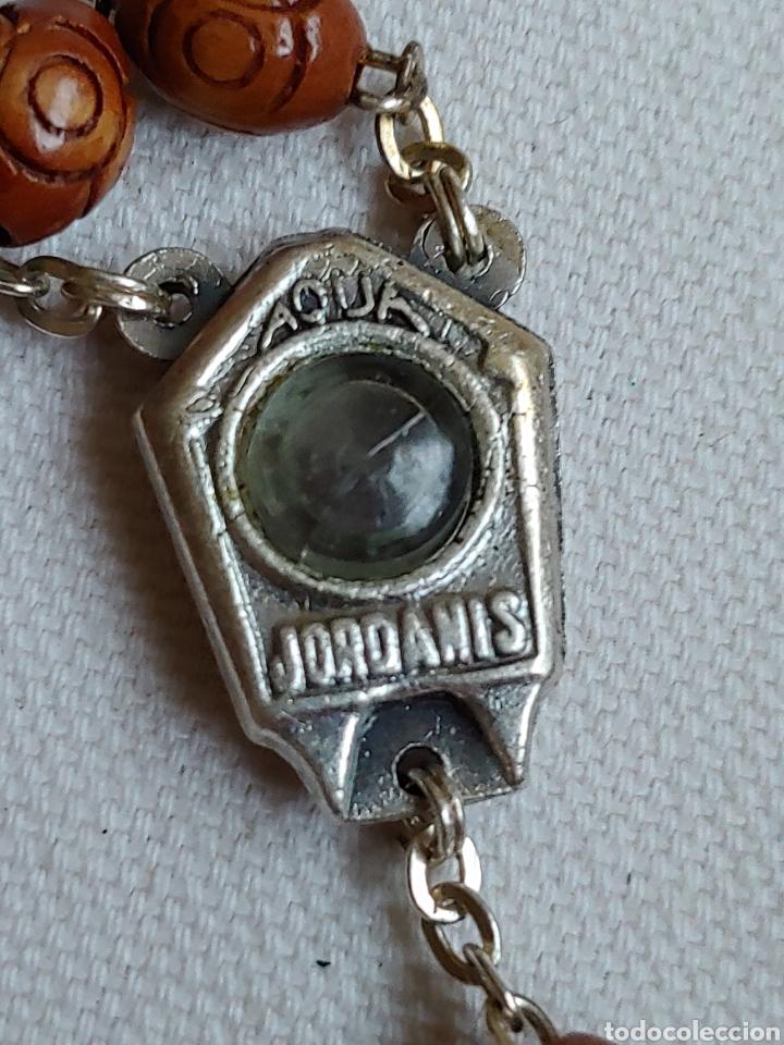 ROSARIO SEMILLAS CON AGUA DE TIERRA SANTA JERUSALÉN (Antigüedades - Religiosas - Rosarios Antiguos)