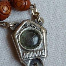 Antigüedades: ROSARIO SEMILLAS CON AGUA DE TIERRA SANTA JERUSALÉN. Lote 272474818