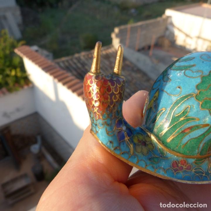 Antigüedades: Majete caracol de cloisonne - Foto 3 - 272483938