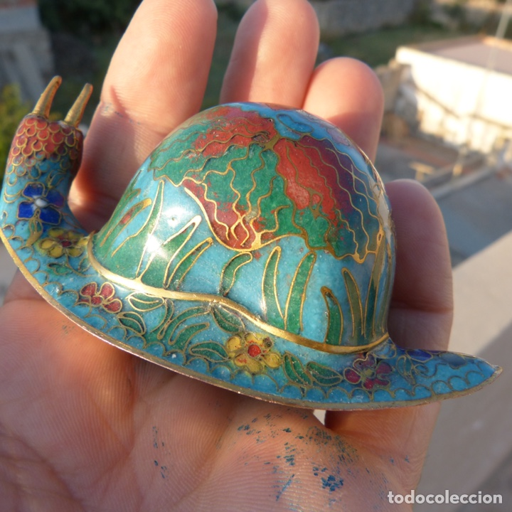 Antigüedades: Majete caracol de cloisonne - Foto 4 - 272483938