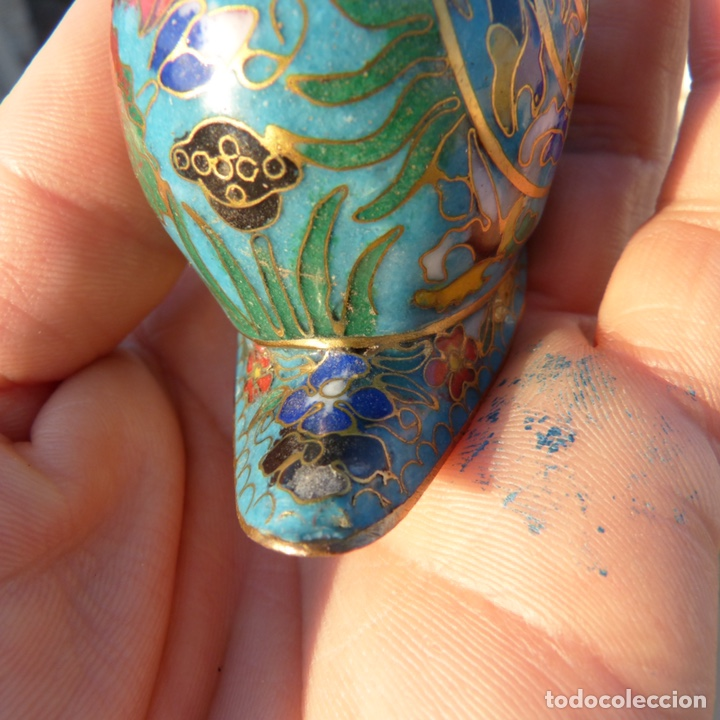 Antigüedades: Majete caracol de cloisonne - Foto 6 - 272483938