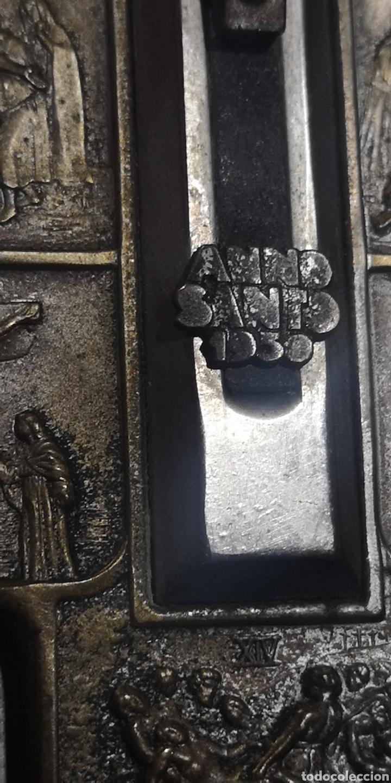 Antigüedades: Antiguo Viacrucis con Cruz de los años 30 - Foto 3 - 272747298