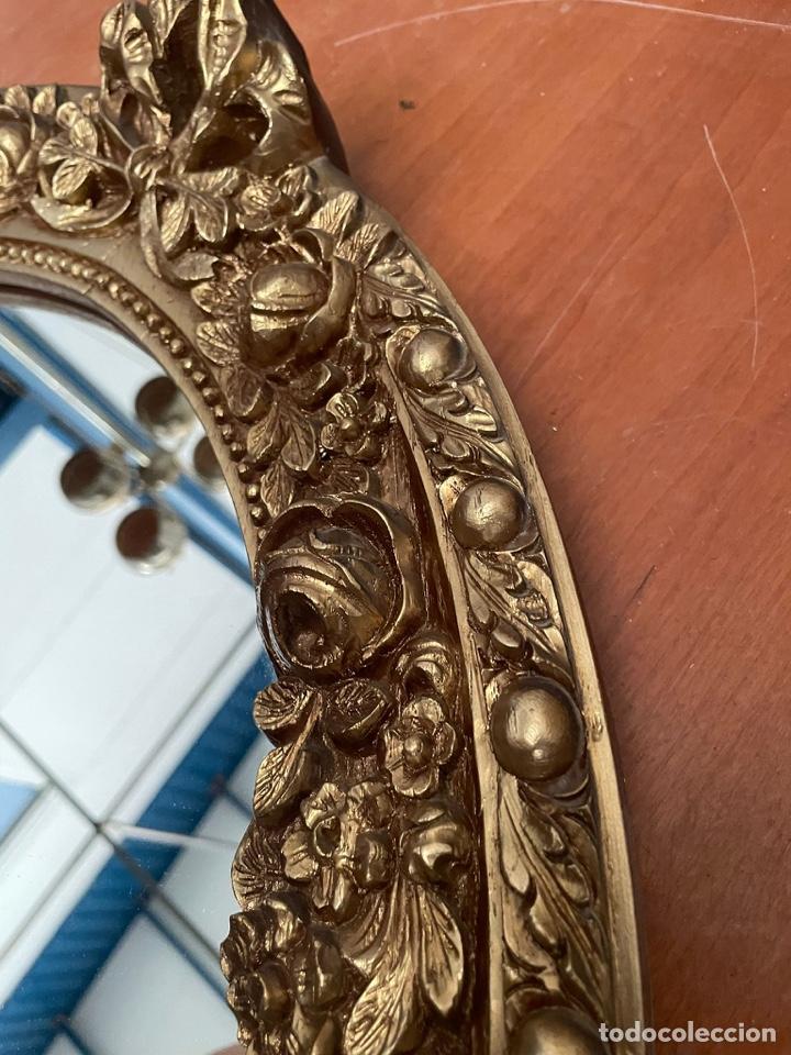 Antigüedades: Espejo antiguo pan de oro - Foto 2 - 272767053
