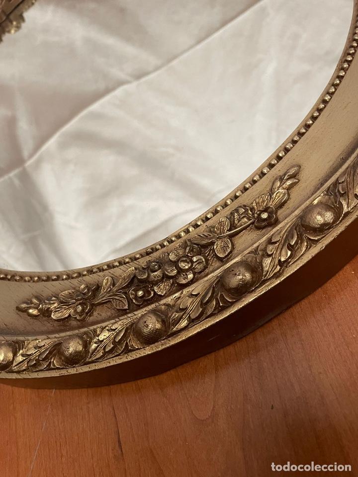 Antigüedades: Espejo antiguo pan de oro - Foto 6 - 272767053