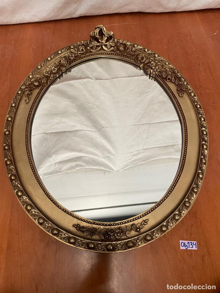 Antigüedades: Espejo antiguo pan de oro - Foto 7 - 272767053