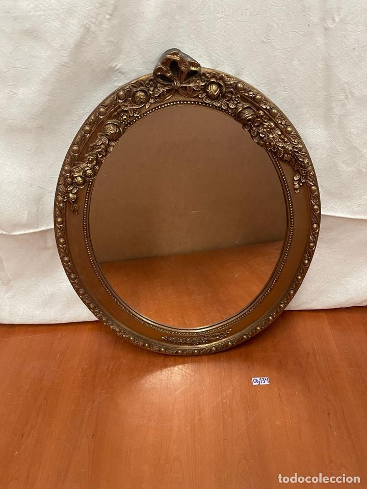 ESPEJO ANTIGUO PAN DE ORO (Antigüedades - Muebles Antiguos - Espejos Antiguos)