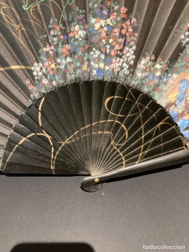 Antigüedades: Bonito abanico pintado a mano - Foto 4 - 272771103