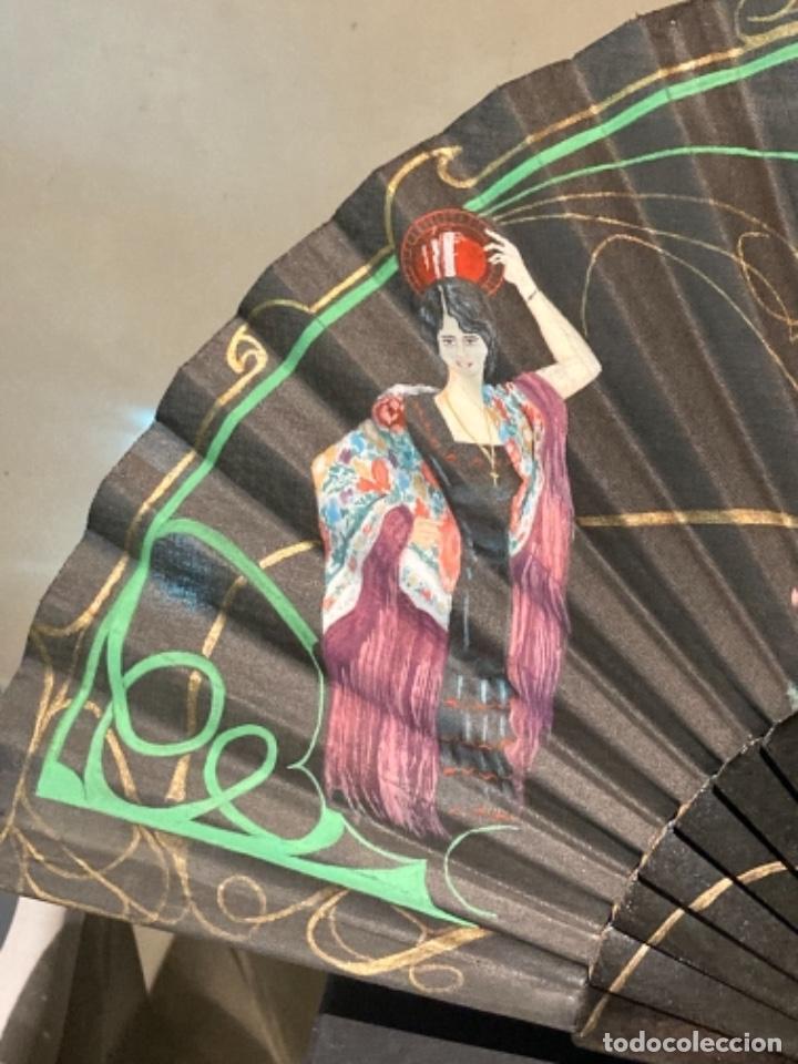 Antigüedades: Bonito abanico pintado a mano - Foto 6 - 272771103
