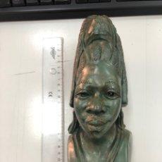 Antigüedades: ANTIGUO BUSTO AFRICANO EN PIEDRA MARMÓREA. Lote 272914378