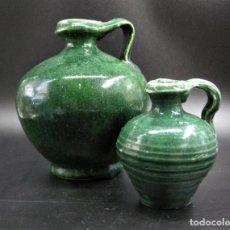 Antigüedades: 2 PERULAS ANTIGUAS DE UBEDA, JAEN O TRIANA, SEVILLA. Lote 272966393