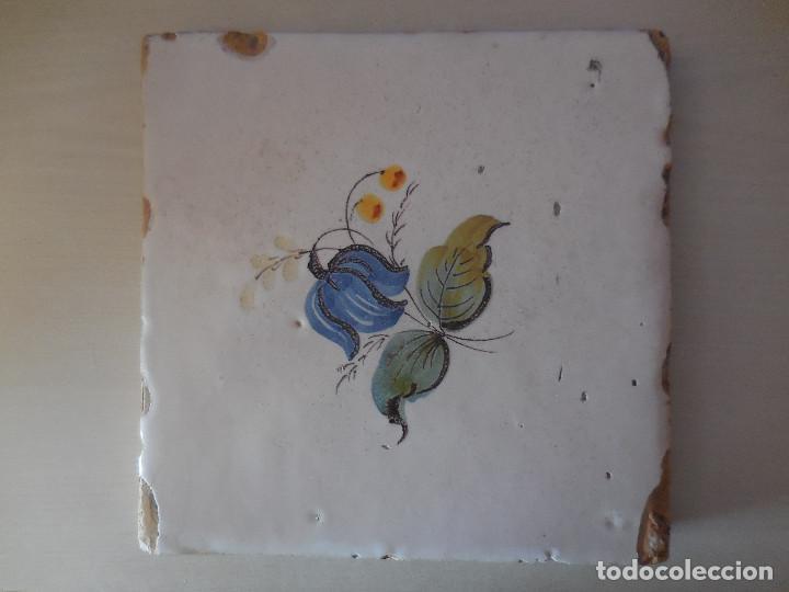 AZULEJO. FÁBRICA DE VALENCIA. PP. SIGLO XIX. 20 X 20 CM. ORIGINAL¡¡¡¡ (Antigüedades - Porcelanas y Cerámicas - Azulejos)