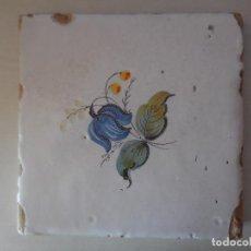 Antigüedades: AZULEJO. FÁBRICA DE VALENCIA. PP. SIGLO XIX. 20 X 20 CM. ORIGINAL¡¡¡¡. Lote 272970378